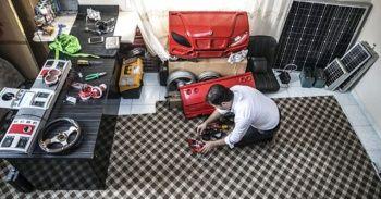 Suriyeli mühendis güneş enerjisiyle çalışan otomobil yaptı