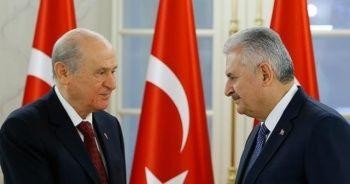 TBMM Başkanı Binali Yıldırım, MHP Lideri Bahçeli ile görüşüyor