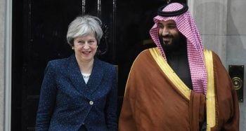 Suudi Arabistan Veliaht Prensi, İngiltere Başbakanı Theresa May ile görüştü