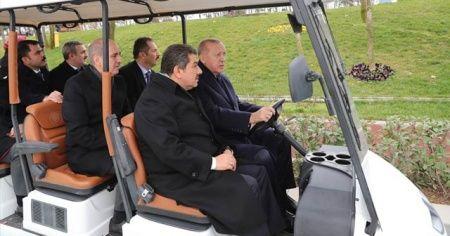 Cumhurbaşkanı'ndan Millet Bahçesi turu