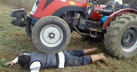 Mazot fiyatlarına tepki için traktörü üstüne çıkardı
