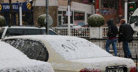 Niğde'de kar yağışı etkili oldu
