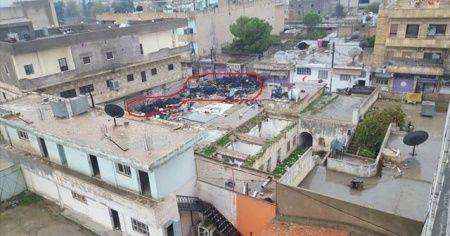 PYD Rasulayn'da evlerin üzerine lastik istifledi