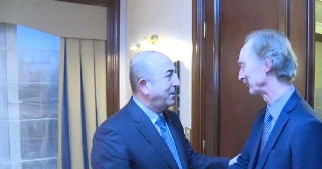 Çavuşoğlu, BM Suriye Özel Temsilcisi Pedersen ile görüştü