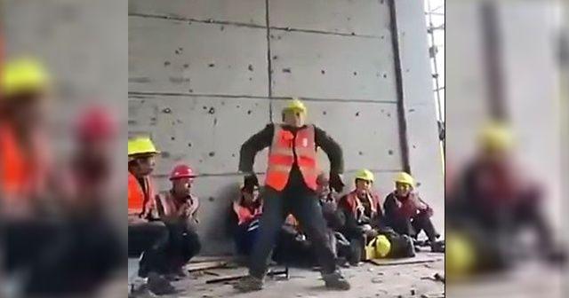 Çinli inşaat işçisinin Michael Jackson'a taş çıkartan 'ay yürüyüşü' dansı