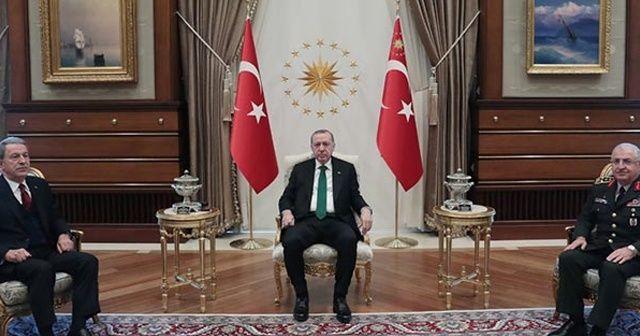 Cumhurbaşkanı Erdoğan, Hulusi Akar ve Yaşar Güler'i kabul etti