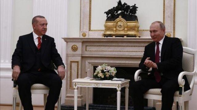 Cumhurbaşkanı Erdoğan-Putin görüşmesi sona erdi