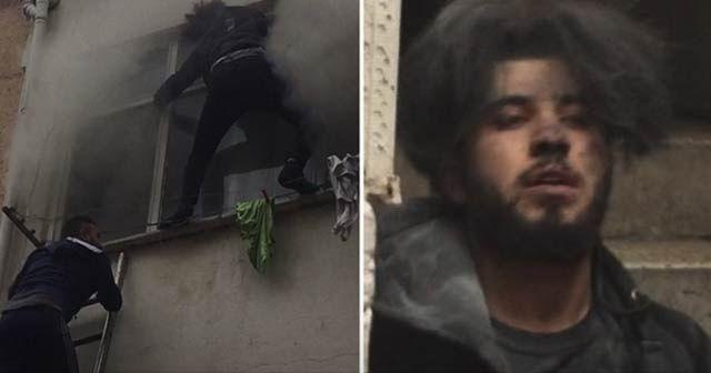 Fatih'te can pazarı... Esnafın merdiveni 2 gencin canını kurtardı