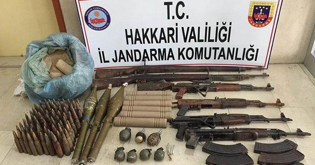 Hakkari'de PKK operasyonu: Çok sayıda silah ve mühimmat ele geçirildi