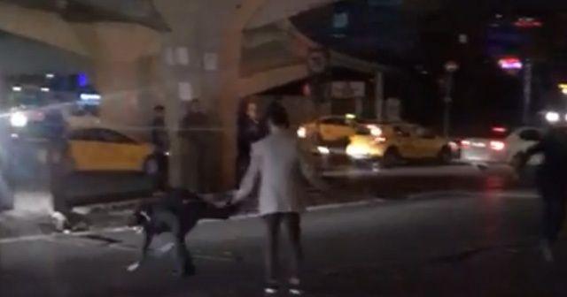 """İstanbul'da """"Fight Club"""" filmini aratmayan kavga kamerada"""