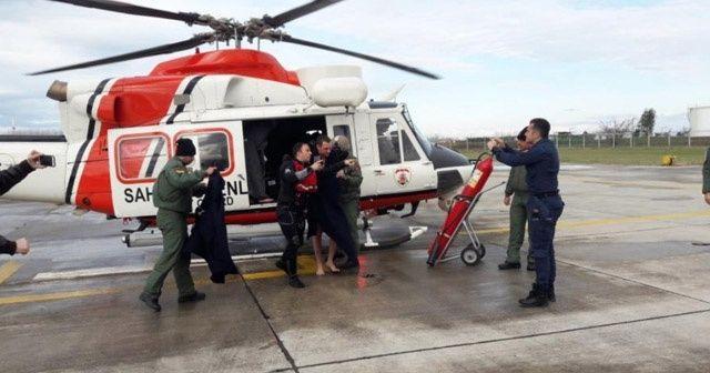 Karadeniz'de batan gemiden 7 kişi kurtarıldı, 2 kişinin cansız bedenine ulaşıldı