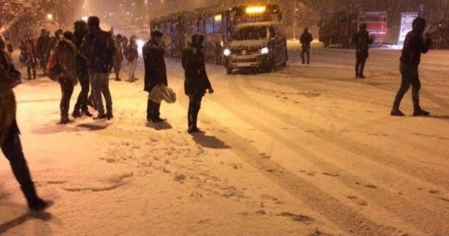 Malatya'da iki üniversitede kar tatili