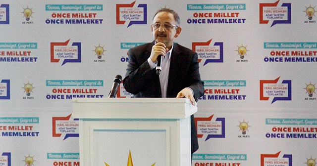 Mehmet Özhaseki, Ak Parti Çankırı Belediye Başkan Adaylarını açıkladı