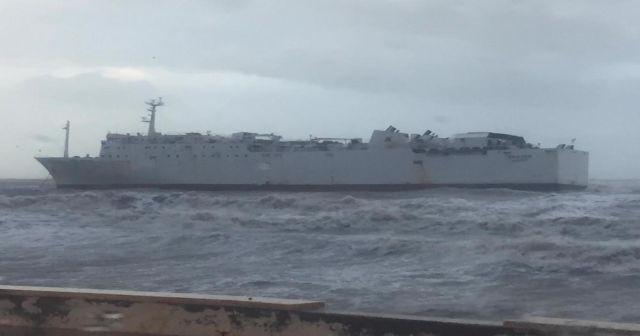 Mersin Limanı açıklarında bir gemi karaya oturdu