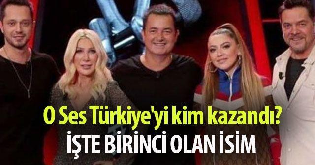 O Ses Türkiye'yi KİM Kazandı? O SES Türkiye Kim BİRİNCİ OLDU? İşte O ses Türkiye'nin şampiyonu