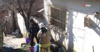 14 yaşındaki çocuk, hasta kadını sırtlayıp yangından kurtardı