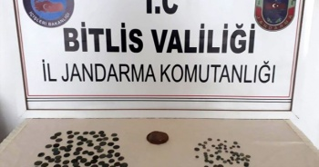 Bitlis'te evde 167 sikke ele geçirildi