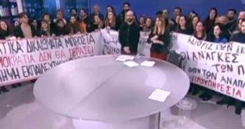 Haber bülteni sunulurken televizyonu işgal ettiler