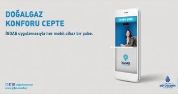 İGDAŞ mobil uygulaması hizmetinizde