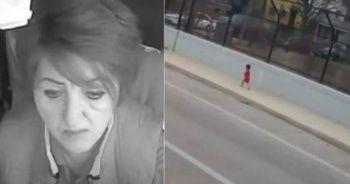 Kaybolan bebeğin imdadına kadın otobüs sürücüsü yetişti!