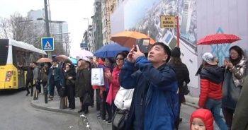 Koreli turistlerden Türk bayrağına yoğun ilgi