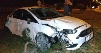 Önüne köpek çıkan otomobil 25 metre takla attı: 1 yaralı