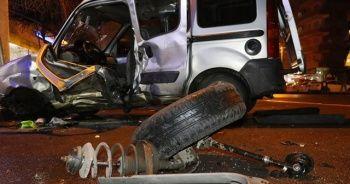 Park halindeki araçlar faciayı önledi