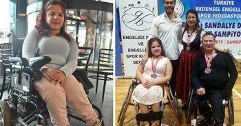 Tekerlekli sandalyede dansta Türkiye şampiyonu oldu