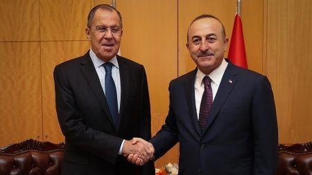 Bakan Çavuşoğlu, Sergey Lavrov ile görüştü