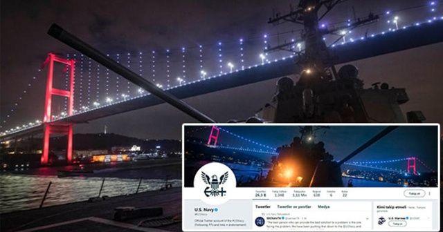 ABD Donanması'ndan dikkat çeken 'Türkiye' paylaşımı