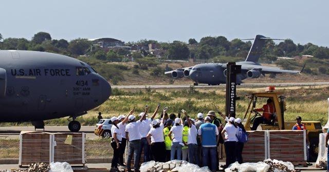 ABD'nin Venezuela için gönderdiği yardımlar Kolombiya'ya ulaştı