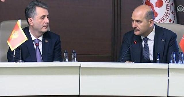 Bakan Soylu, Karadağ İçişleri Bakanı Nuhodzic'i kabul etti