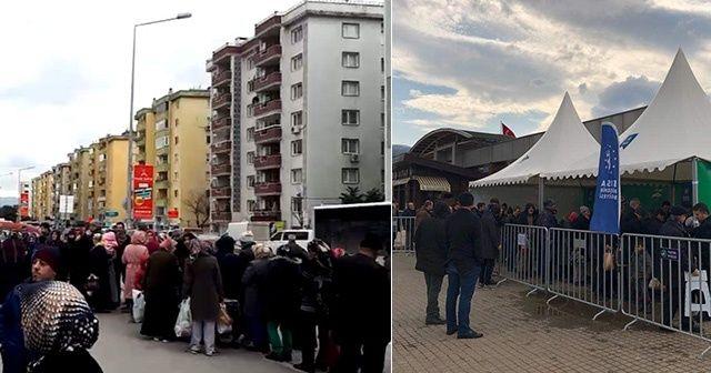 Bursa'da tanzim satış başladı! Ucuz ürünler kapışıldı