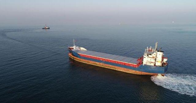Karaya oturan gemi 3 gün sonra kurtarıldı