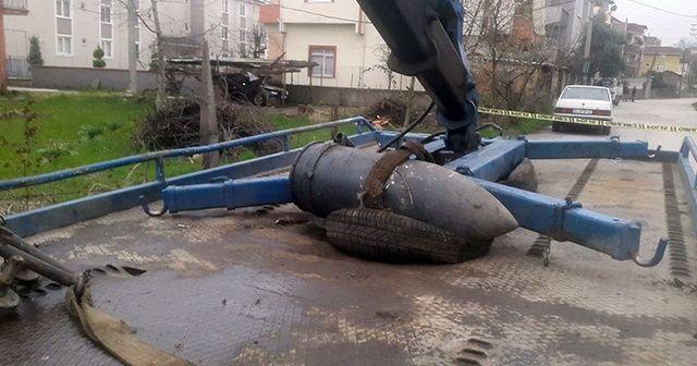 Kocaeli'de 200 kiloluk top mermisi bulundu