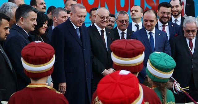 Minik mehteranlardan Cumhurbaşkanı Erdoğan'a 'Diriliş' sürprizi