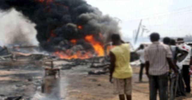 Nijerya'da yakıt tankeri patladı! 7 ölü