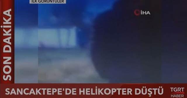 Son dakika... İstanbul'da site içerisine askeri helikopter düştü