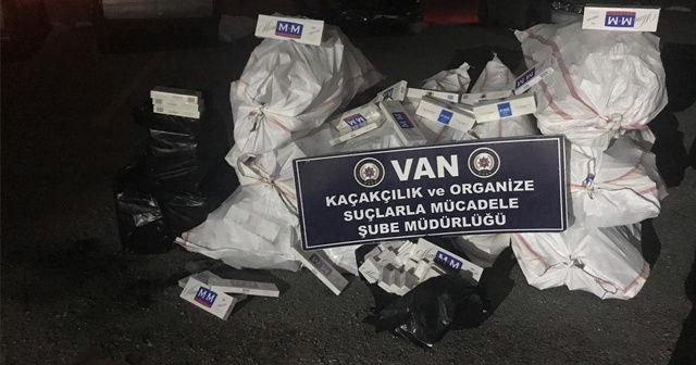 Van'da kaçak sigara operasyonu