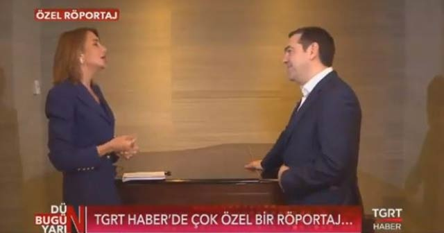 Yunanistan Başbakanı Çipras'tan TGRT Haber'e çok önemli açıklamalar
