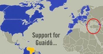 ABD, Guaido'ya destek çıkan ülkelerin haritasını paylaştı