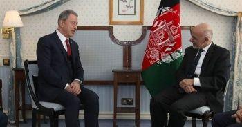 Bakan Akar, Afganistan Cumhurbaşkanı ile görüştü