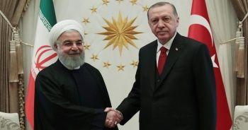 Cumhurbaşkanı Erdoğan, Ruhani görüşmesi başladı