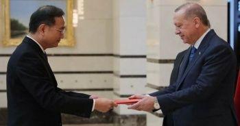 Deng Li, Cumhurbaşkanı Erdoğan'a güven mektubunu sundu