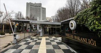 Dışişleri Bakanlığı'ndan 'Suriye' açıklaması