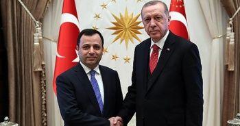 Erdoğan, Anayasa Mahkemesi Başkanı Zühtü Arslan'ı kabul etti