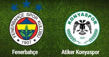 Fenerbahçe Konyaspor maçı özeti golleri İzle! FB Konya maç golleri izle! Özet videosu