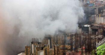 Kadıköy Fikirtepe'de bir inşaatta yangın çıktı