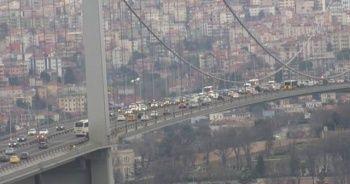 Son Dakika... 15 Temmuz Şehitler Köprüsü'nde şüpheli paket alarmı