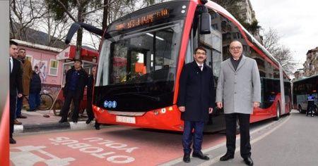 Elektrikli otobüslerde test sürüşleri devam ediyor
